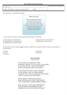 Prova de Português 9º ano