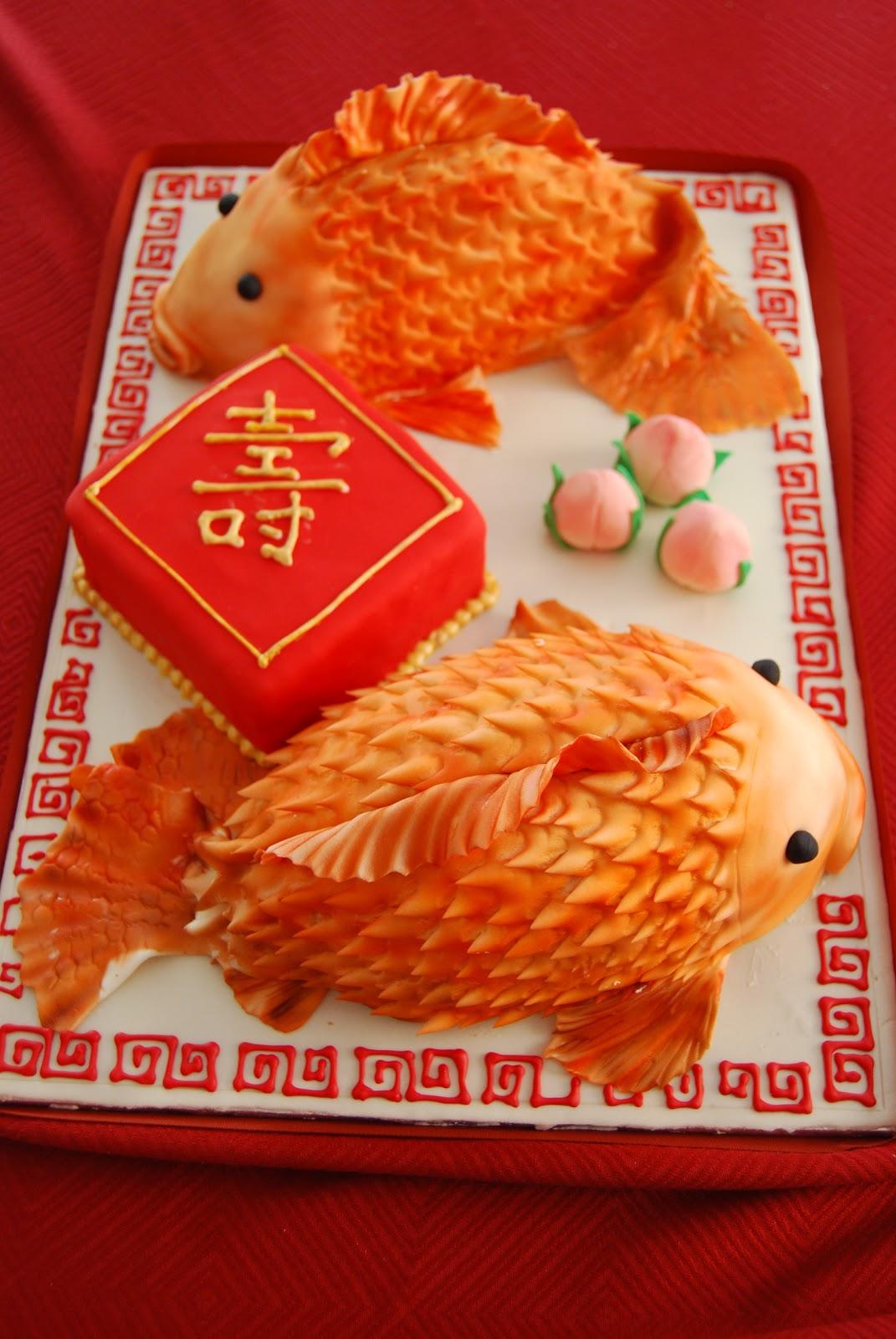 Chinese Theme Birthday Cake Sandys Sweets
