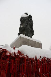beijing temples snow