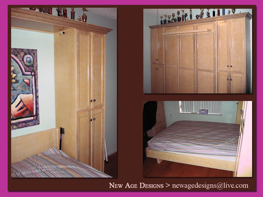 murphy bed wall unit custom bedroom set. Black Bedroom Furniture Sets. Home Design Ideas