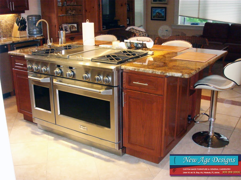 Large custom kitchen islands large white kitchen with for Custom kitchen islands