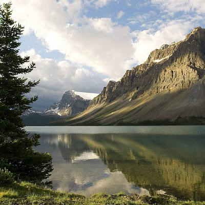 Bow Lake, Alberta, Canada free wallpapers download Apple iPad
