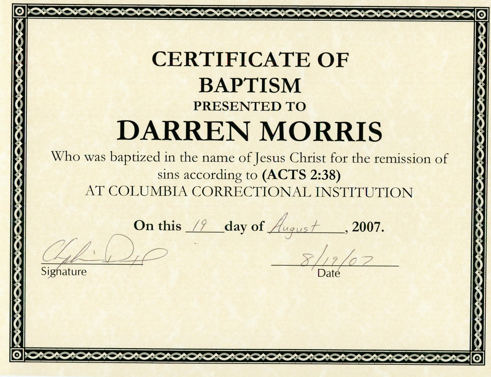 Darren morris artist and story certificates of achievement click on picture to view large size xflitez Images