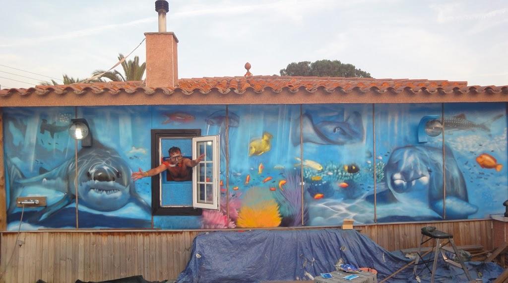 berok graffiti mural profesional en barcelona murales On murales infantiles en 3d