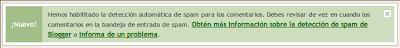 Detección automática de spam - Blogger Draft