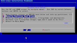 ArchLinux - Particionar Discos Duros Manualment