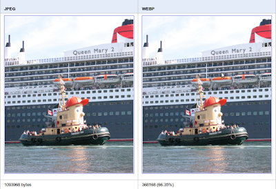 Comparación JPEG vs WebP