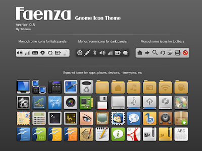 Faenza Gnome Icon Theme v0.8