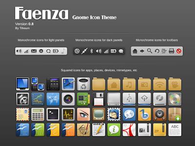 Faenza Gnome Icon Theme v0.8