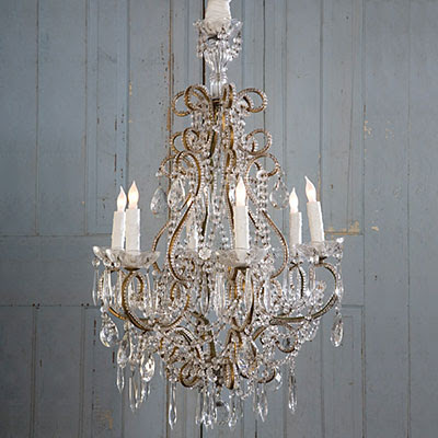 Orange lamp shade shabby chic chandelier - Classic wrought iron chandeliers adding more elegance in the room ...