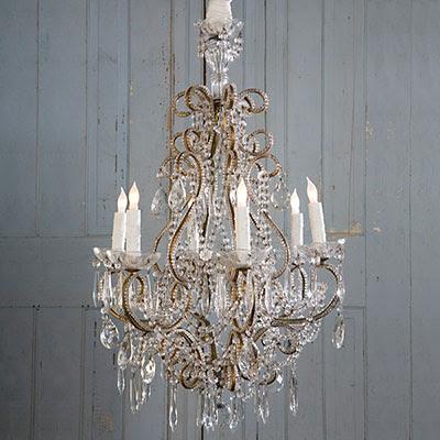 orange lamp shade shabby chic chandelier