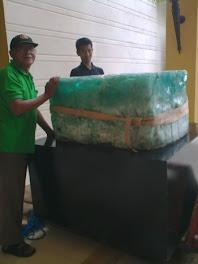 Proses pindahan Vas Batu Pualam ± 500 kg