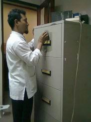 Ganti kunci Filing Cabinet Chubb di Radian Utama Tendean JKT