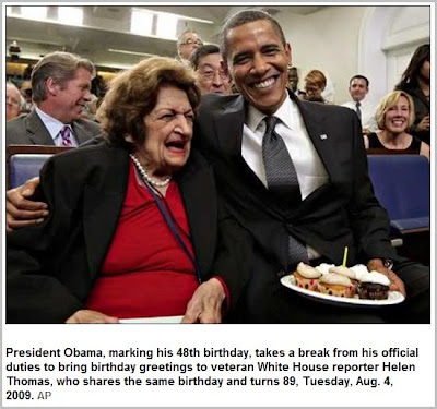 Helen Thomas and the Prez