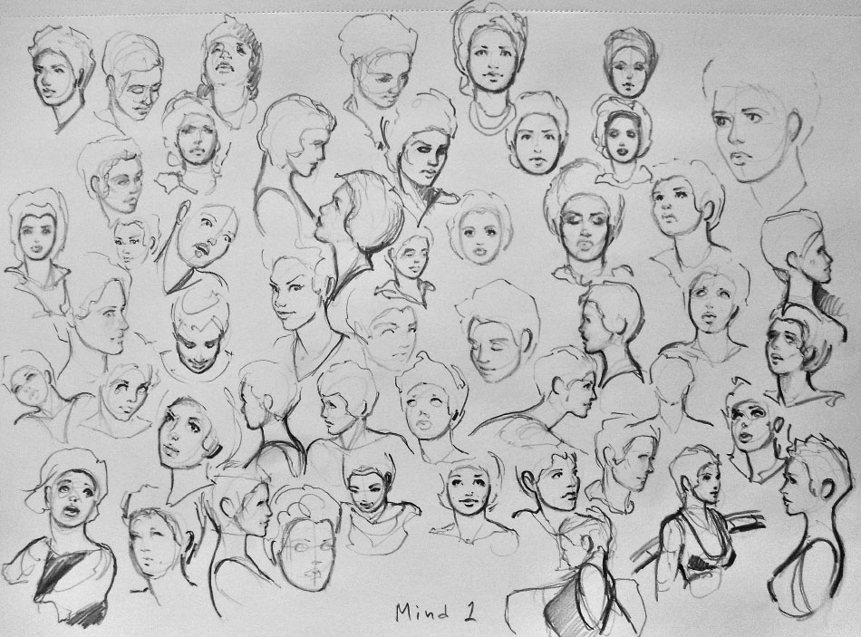 Displaying (18) Gallery Images For Human Head Drawing Reference...