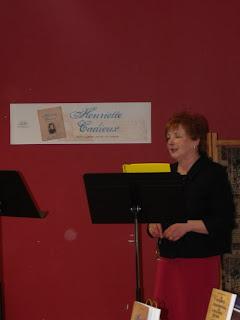 Yolande Gingras au lancement de la biographie d'Henriette Cadieux