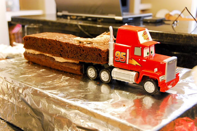 Mack The Truck From Cars Birthday Cake