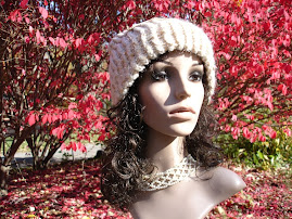 Glistening Linen with Vintage Lace & Button Hat