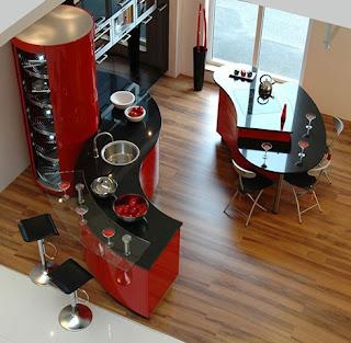 cocina-roja-negra-encajable-madrid-linea-3-cocinas