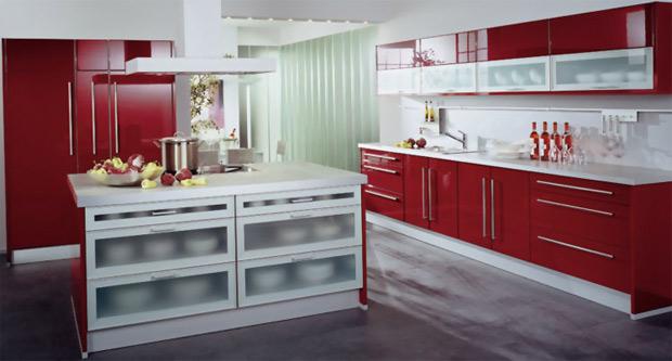 Dise o y decoraci n de cocinas cocinas rojas apuesta por for Cocinas en linea