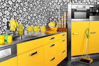 cocina-amarilla-flores-linea-3-cocinas