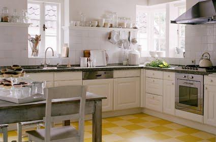 Dise o y decoraci n de cocinas cocinas amarillas los - Cocinas sin muebles arriba ...