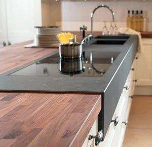 Dise o y decoraci n de cocinas encimeras por encima de - Encimeras de cocina materiales ...
