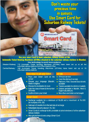 mumbai subarban railway smart card