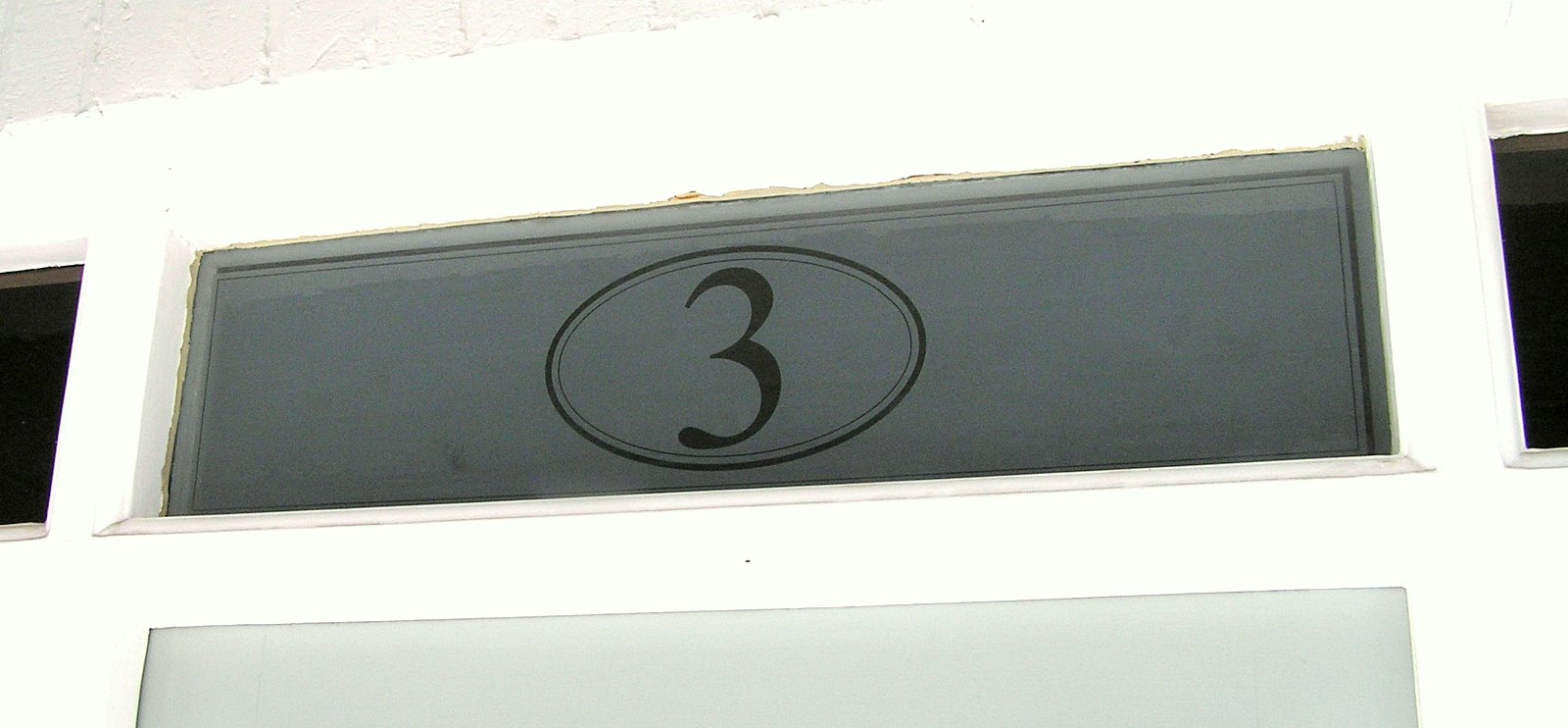 Etched House Number Actually