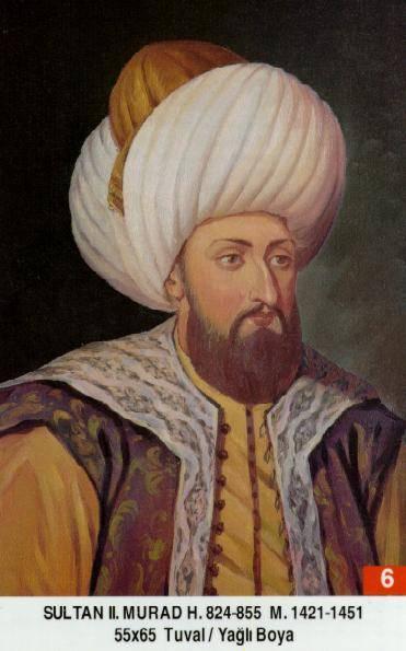 6- II. Murad (1421-1451) Murat_II