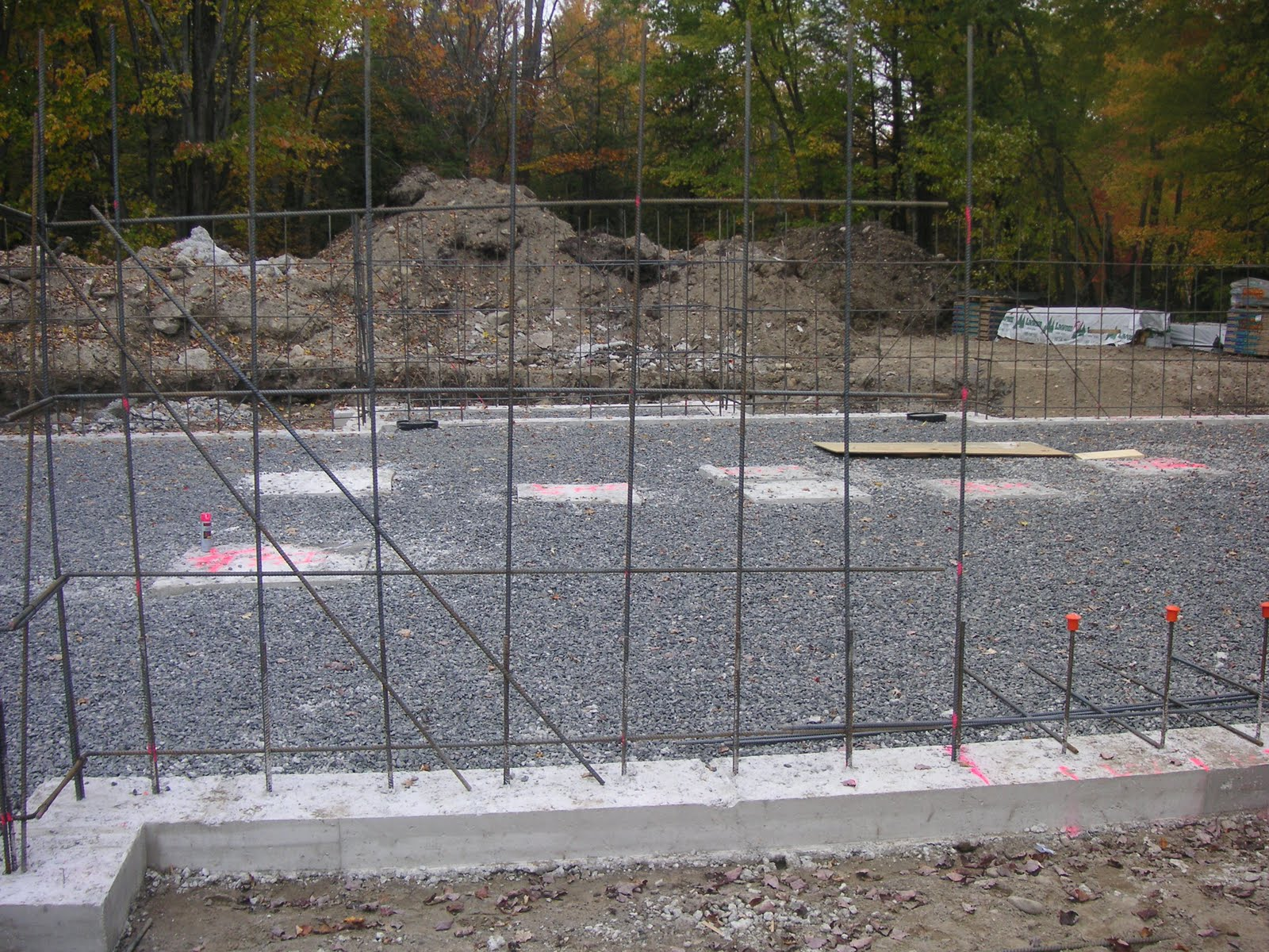 Tiger S Den Foundation Wall Rebar Drainage Complete