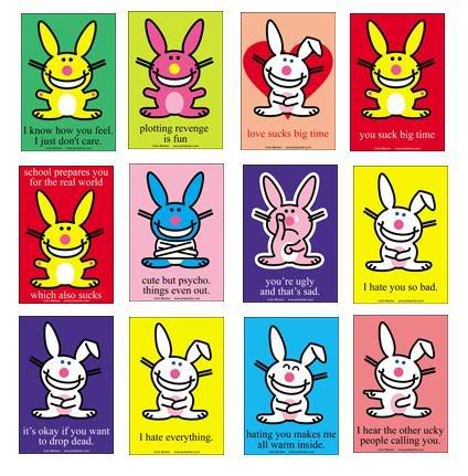 funny bunny. funny quotes happy bunny.