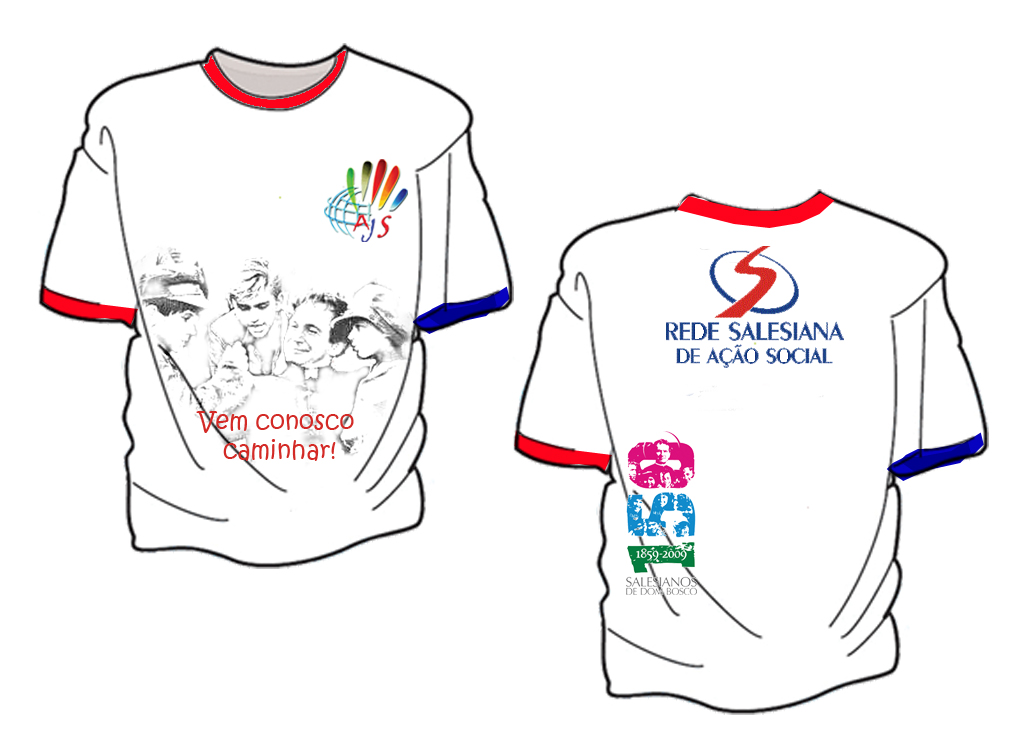 Modelo Das Camisetas  Emorativas A Visita Da Urna De Dom Bosco