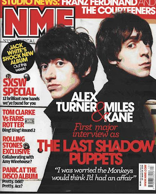nme magazine cover. New Musical Express (NME) is