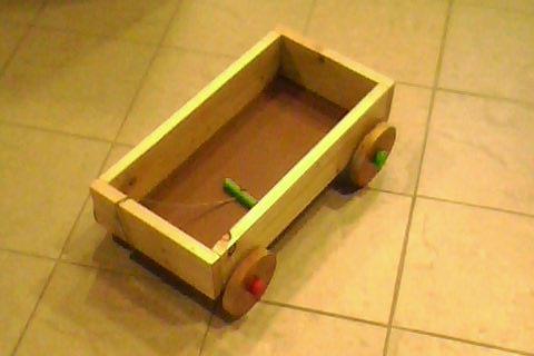 Juguetes artesanales en madera carro guarda juguetes - Guarda juguetes madera ...