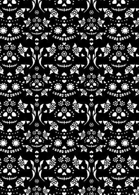 Ghostgirls Art Blog Day Of The Dead Tiling Background