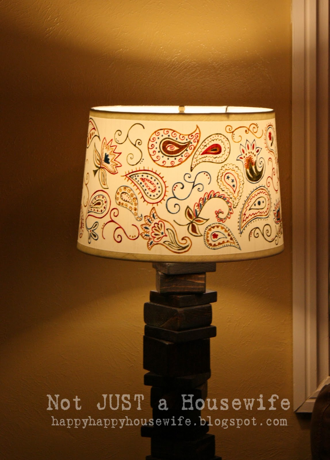 My scrap wood lamp with hand painted shade stacy risenmay aloadofball Choice Image