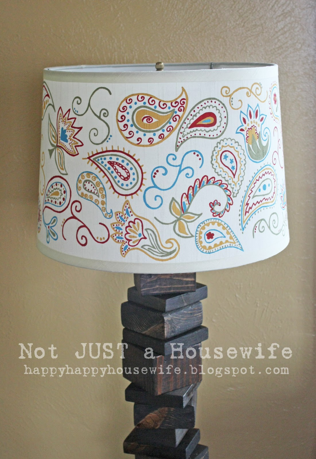 My scrap wood lamp with hand painted shade stacy risenmay the first thing i did was lightly pencil a design onto the lamp shade i am slightly obsessed with paisley so that is what i chose aloadofball Gallery