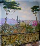 """Wandmalerei mit Toscana-Motiv"""