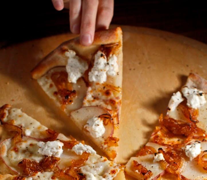 ... : Potato + Caramelized Onion + Goat Cheese + Truffle Oil Pizza