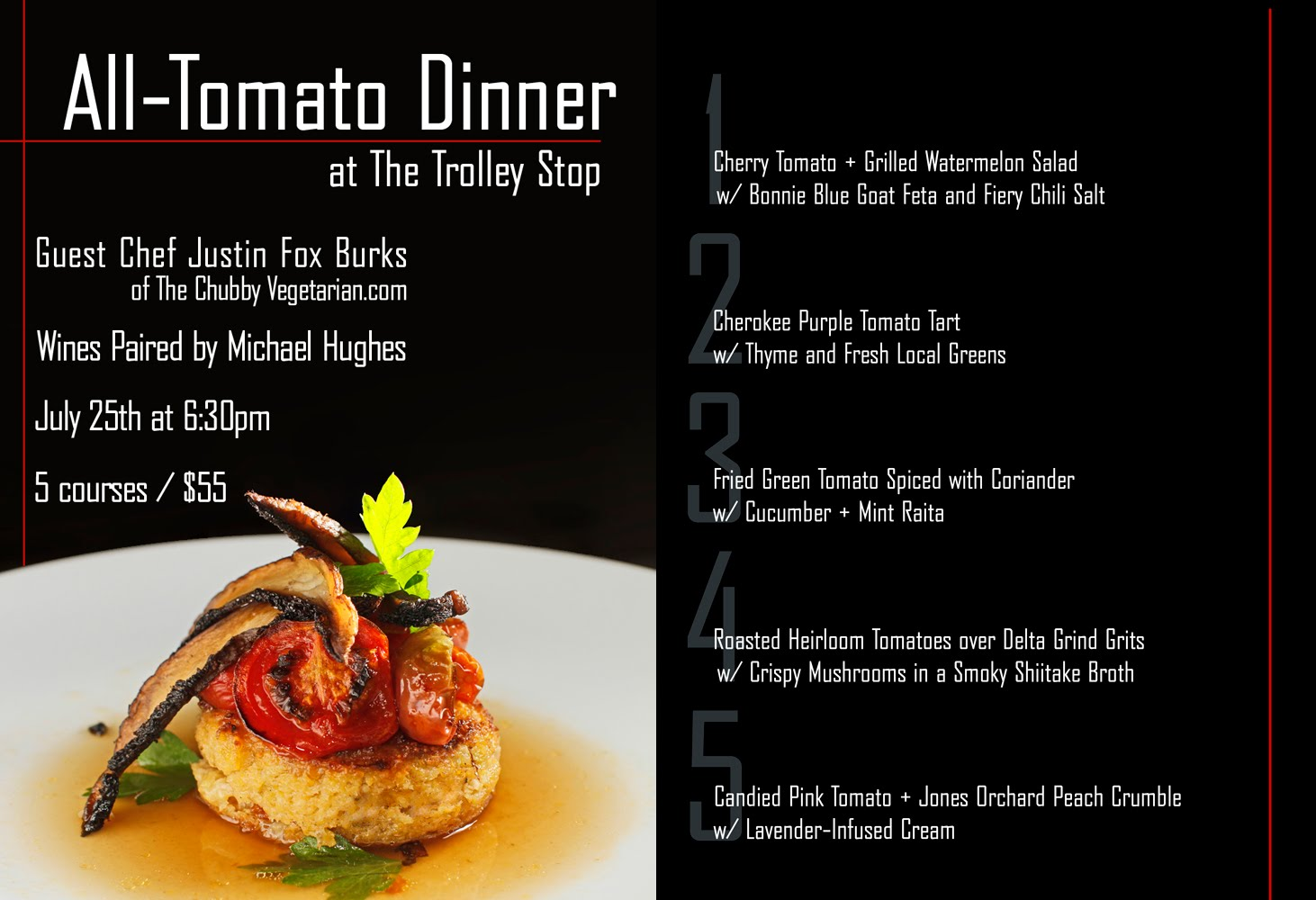 All tomato dinner tickets on