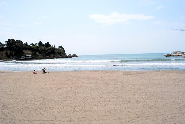 Пляж в Улцине.Черногория