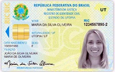 noda identidade, novo RG, identidade digital, RIC, identidade de cartão