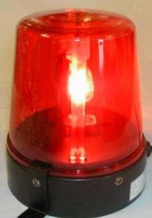 red flashing lights