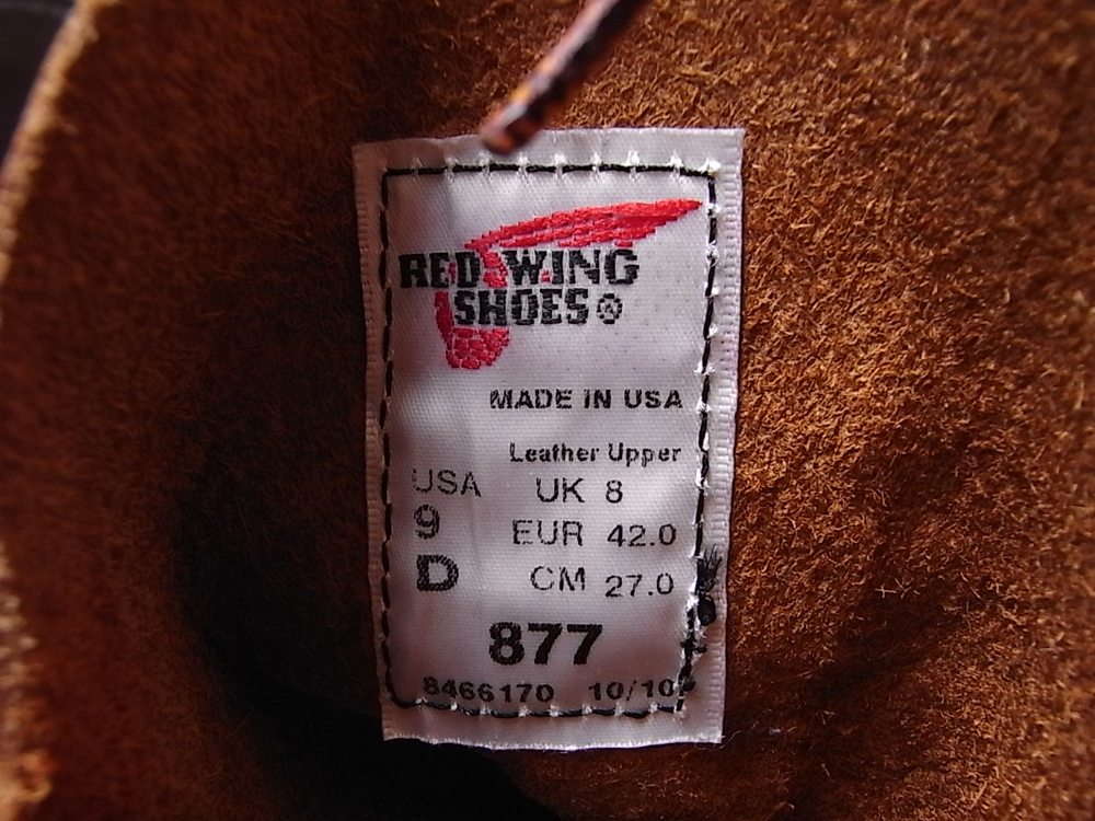 Red Wing #877 Oro-iginal