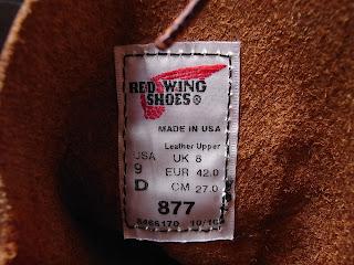 Red Wing #877 Oro-iginal
