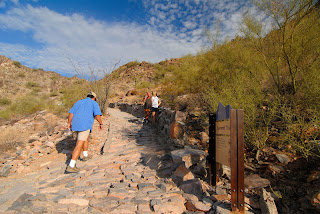 Starting up the trail to Piestewa Peak