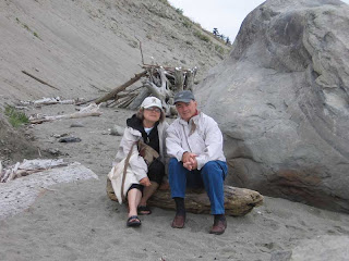 Mom and Dad on the Smugglers Cove beach