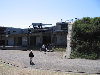 One of the massive guns at Fort Casey