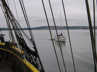 MacGregor 26X sailboat at Coupeville Wharf